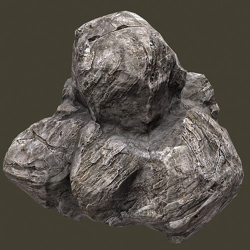 rock 3d model low-poly obj fbx blend tga 1
