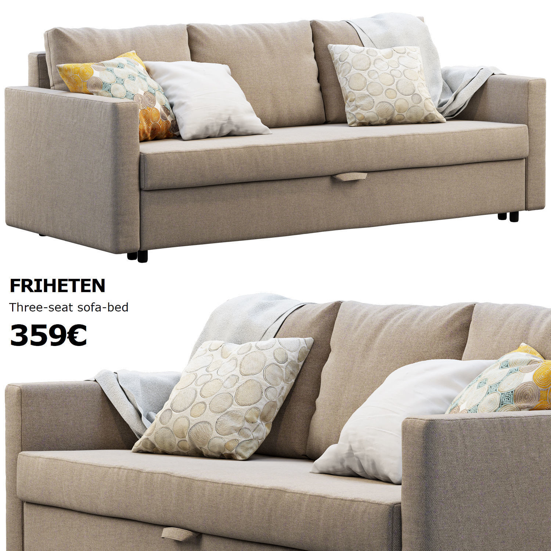 Sofa Friheten Ikea.Ikea Friheten Sofa 3d Model