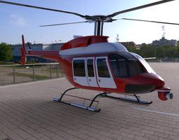 3D Bell 407 Jetranger