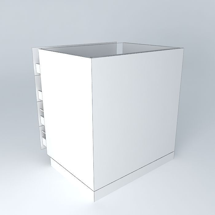 modern white kitchen cabinet free 3d model max obj 3ds fbx kitchen cabinet free 3d model max obj 3ds fbx stl skp