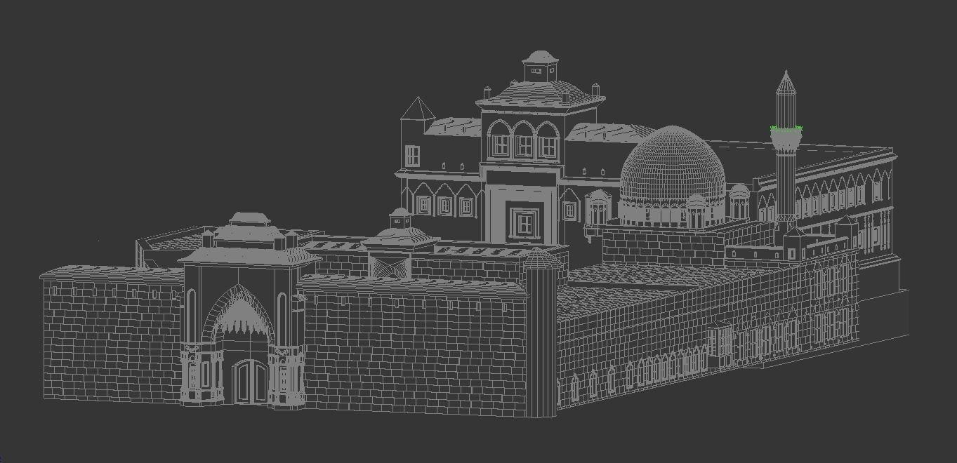 Historic Islamic Palace - Ishak Pasha Palace - Only Model