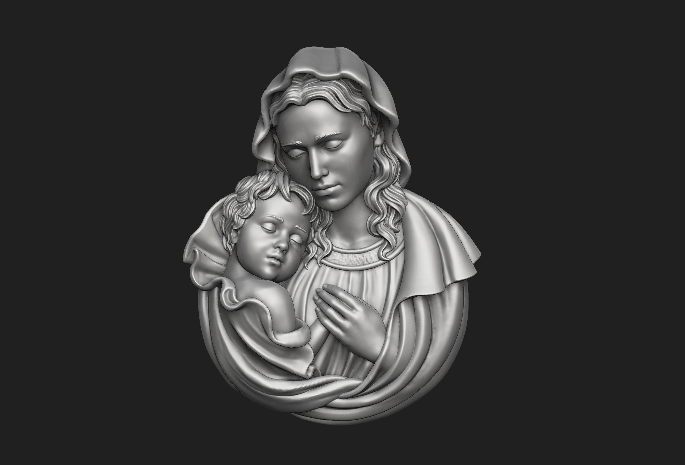 Mary with Baby Jesus Pendant