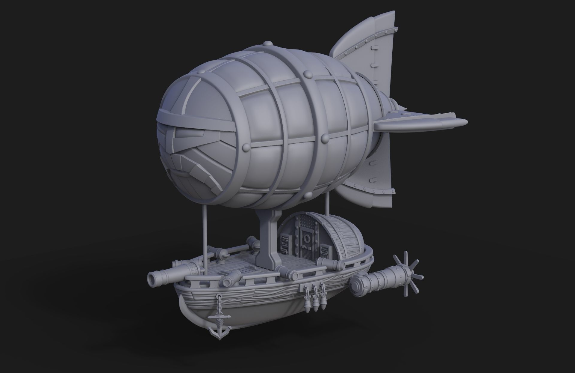 Dwarf Flying Zeppelin Miniature