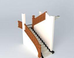 Beautiful retro staircase 3D model