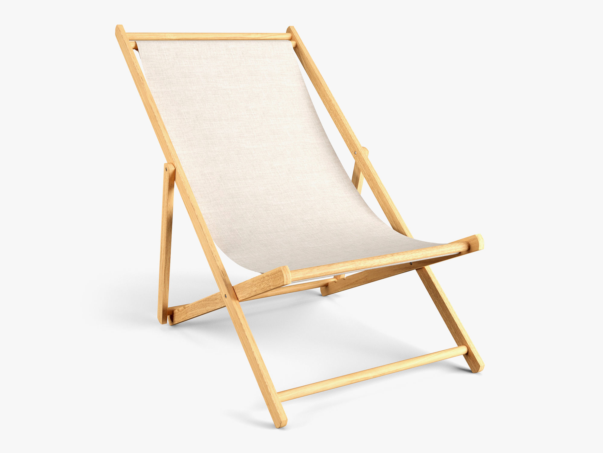 3d Model Fold Wood Beach Chair Cgtrader