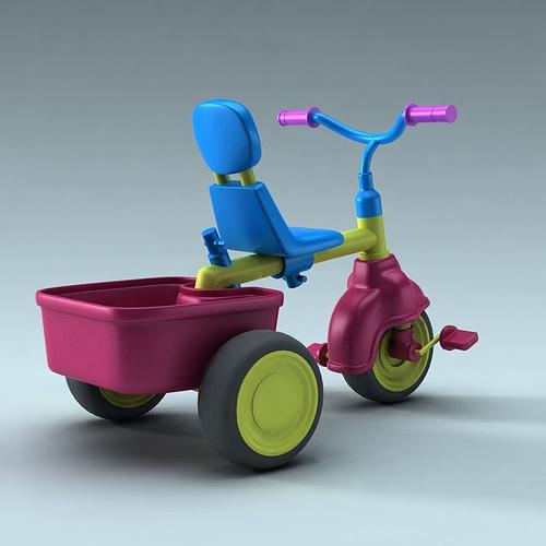 children bike 3d model obj fbx ma mb 1
