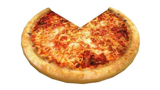 Tasty italian pizza 3D model