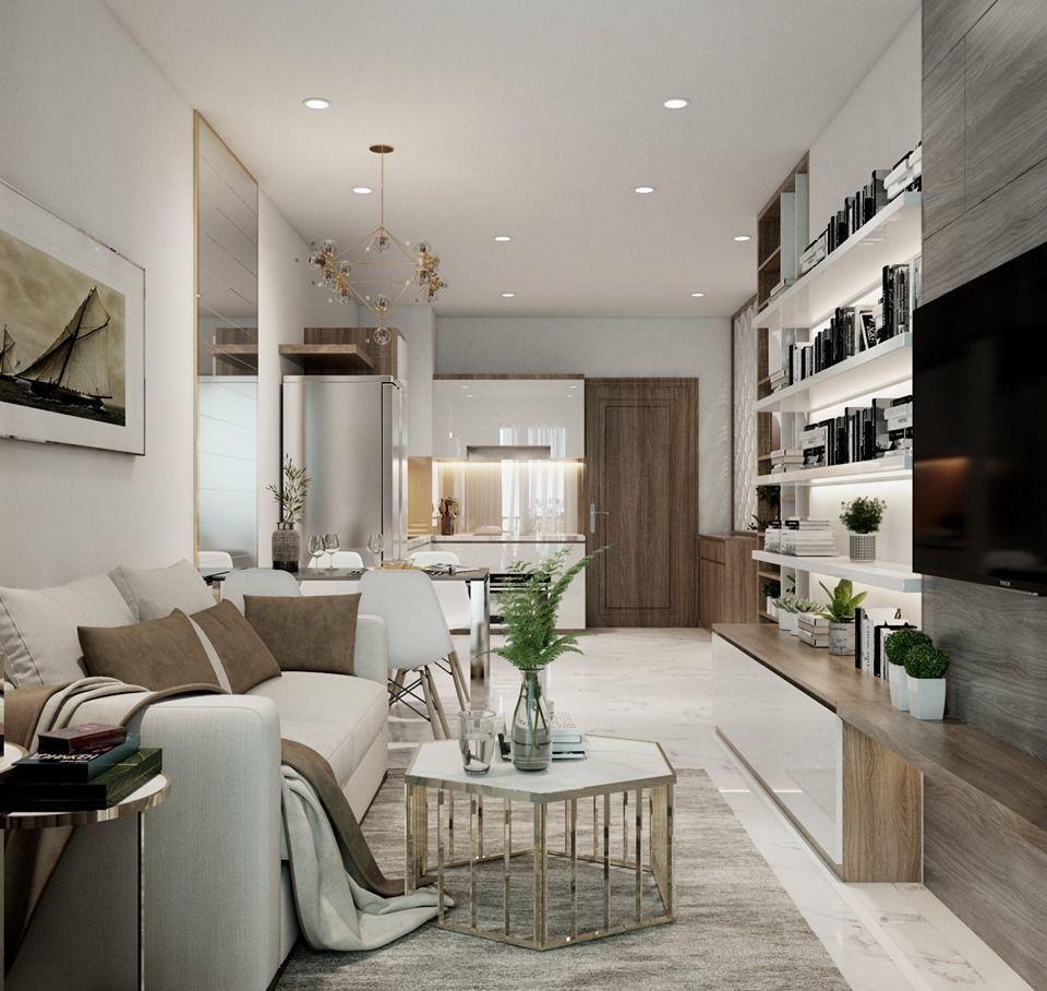 Living Room and Kitchen Vray 3D model 3D model | 3D model