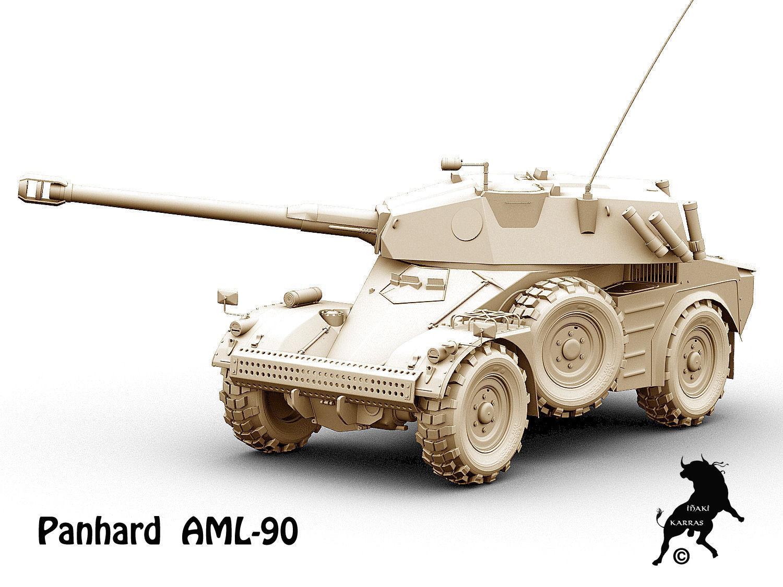 Panhard Aml 90 3d Model Max Obj Fbx Cgtrader Com