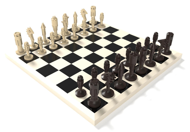 Chess Set 3d Model 3d Printable Stl