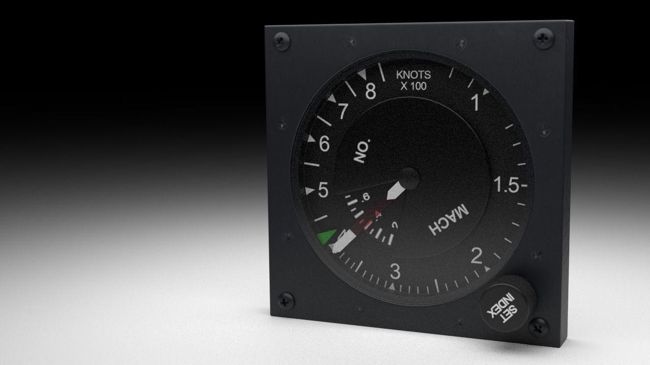 F16 Airspeed Indicator Gauge