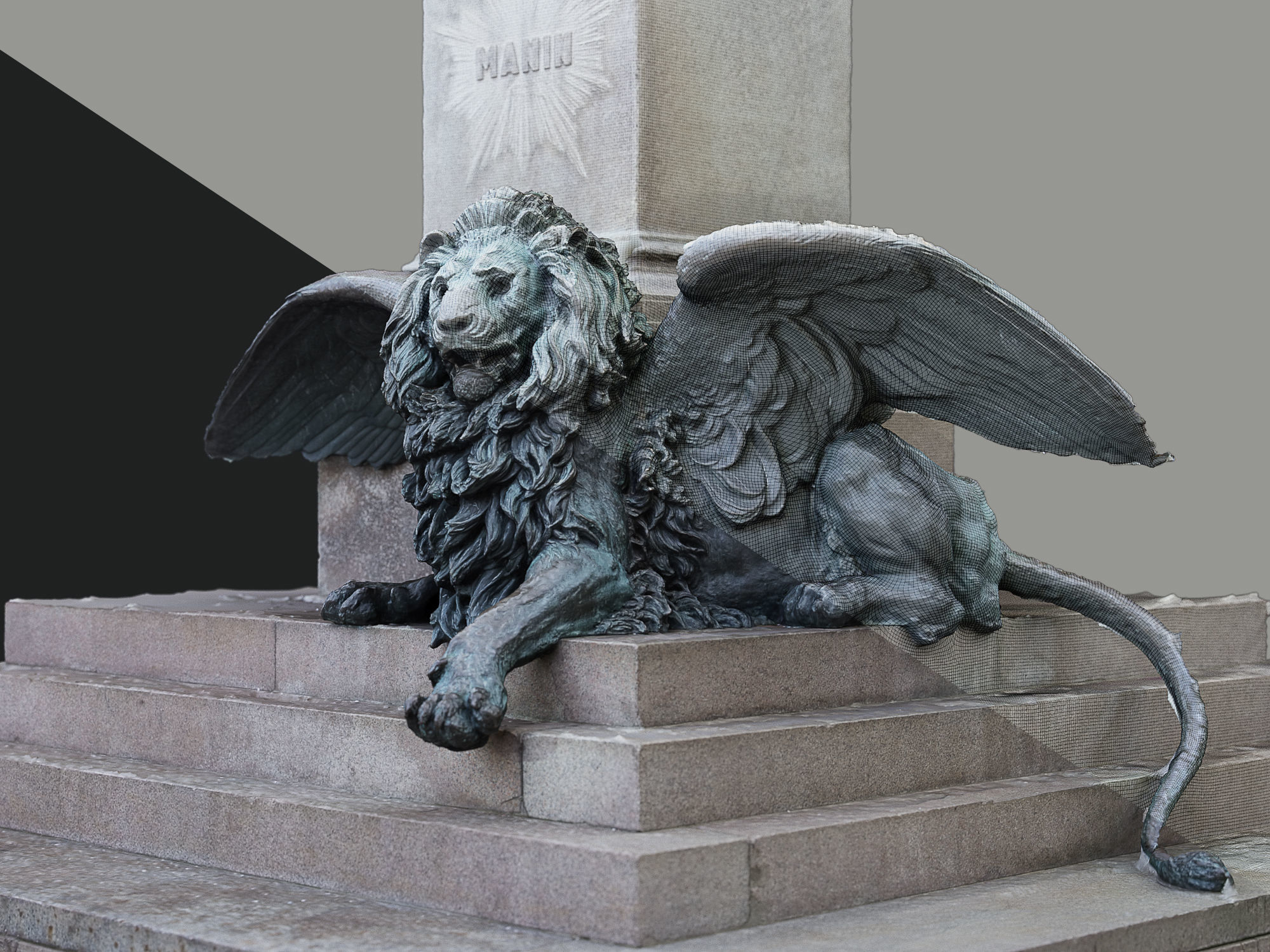 Venice Winged Lion Bronze Sculpture