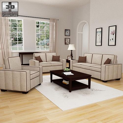 3D asset Living Room Furniture 07 Set CGTrader