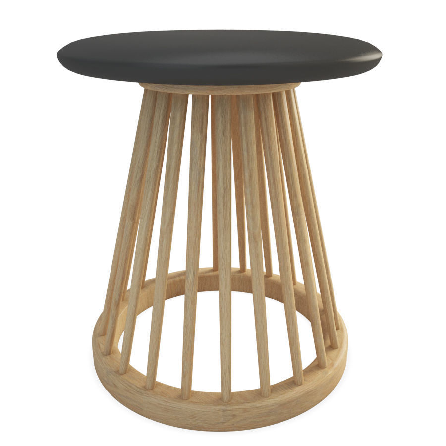 Brilliant Fan Wooden Stool Tom Dixon 3D Model Gmtry Best Dining Table And Chair Ideas Images Gmtryco