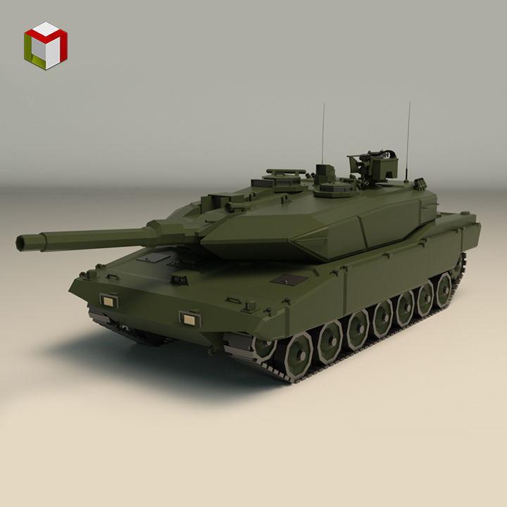 Low Poly Tank 04