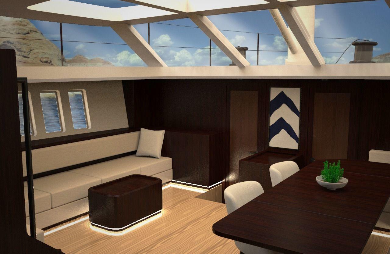 78 Feet Oyster Sailing Yacht Saloon