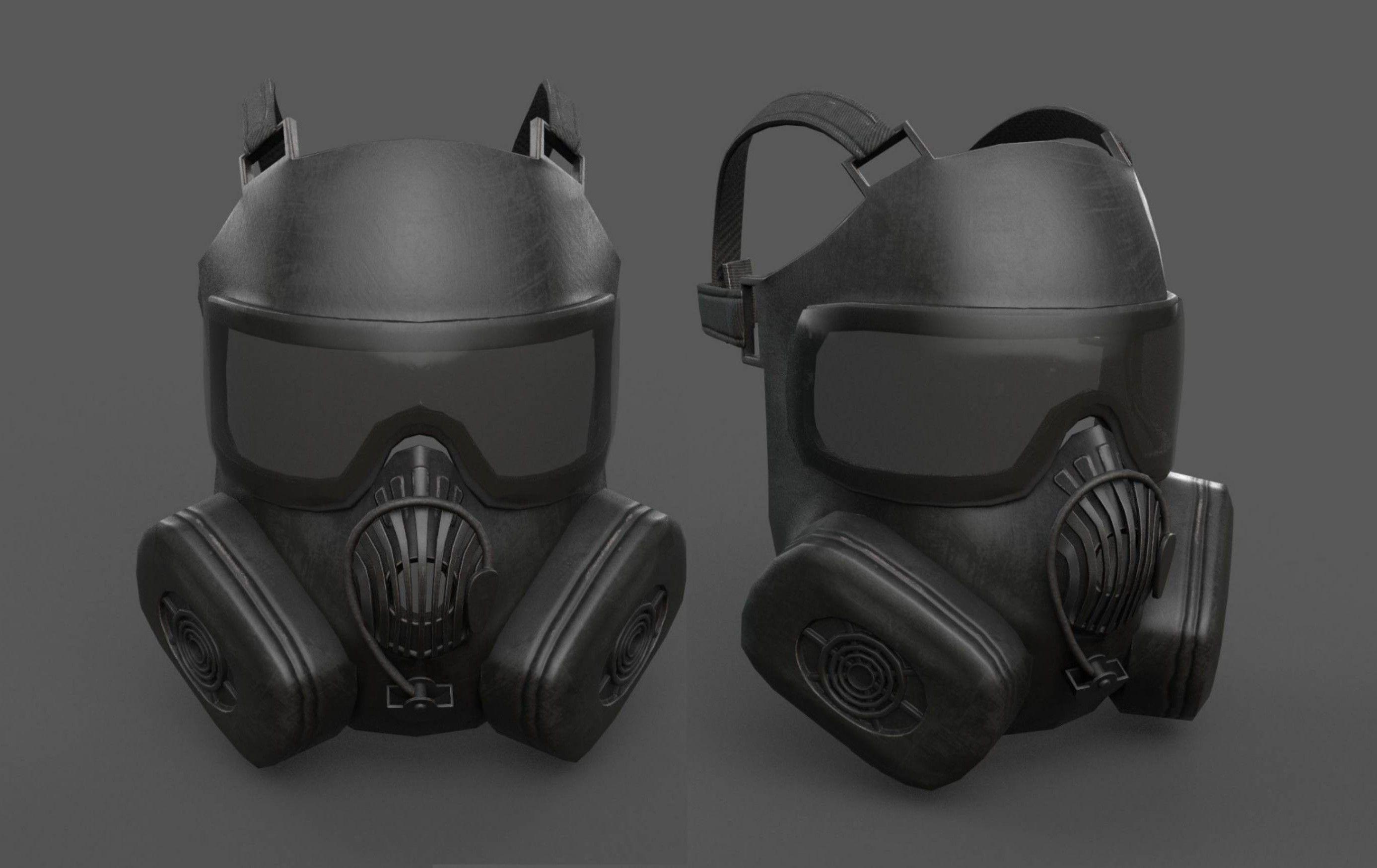 Helmet gas mask