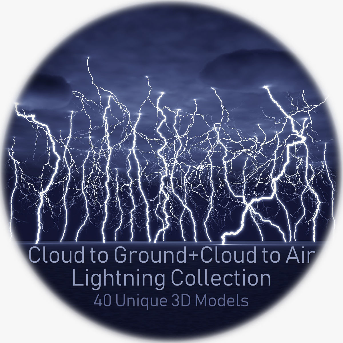 Realistic 3D Lightning Collection 40 CA and CG