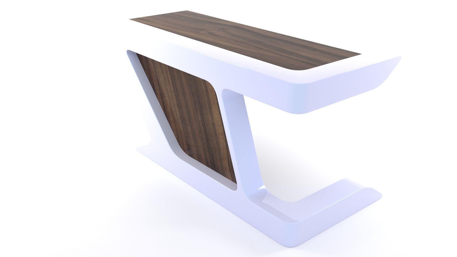 Modern Executive Desk - 40ds Max  40D model