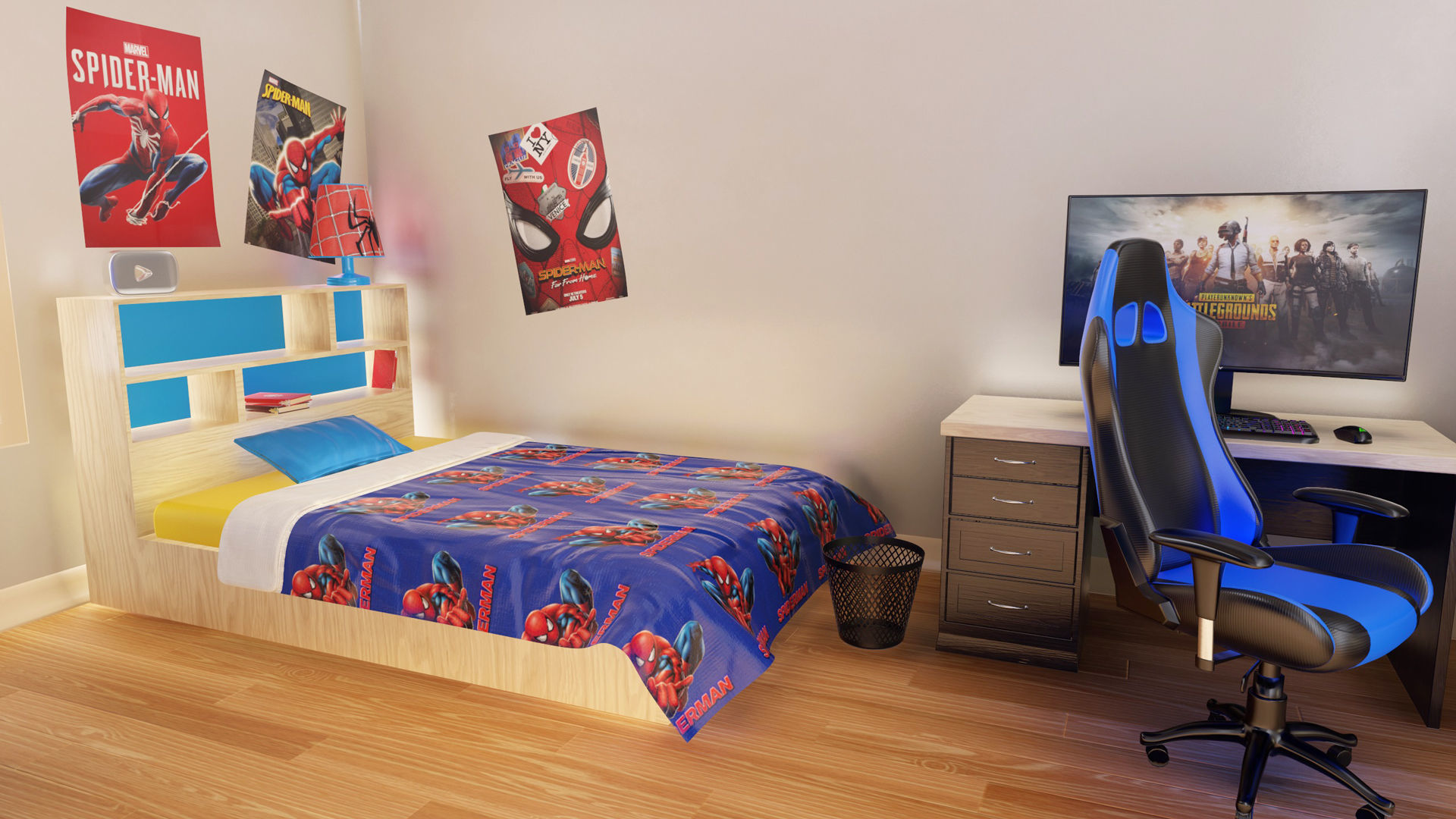 Kids Bedroom and Gamer Room