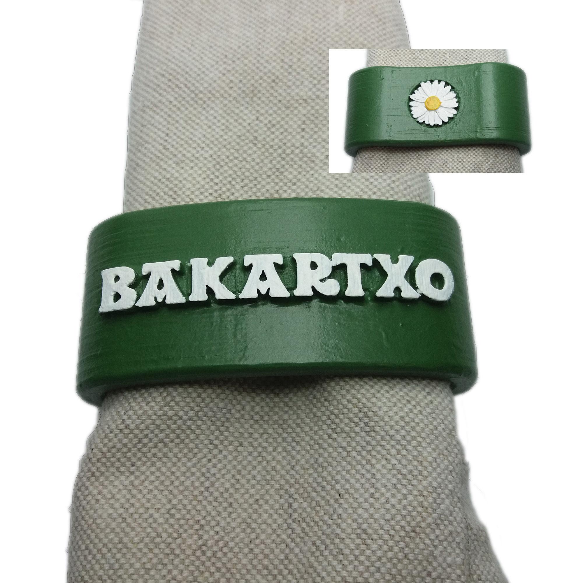 BAKARTXO Napkin Ring with daisy
