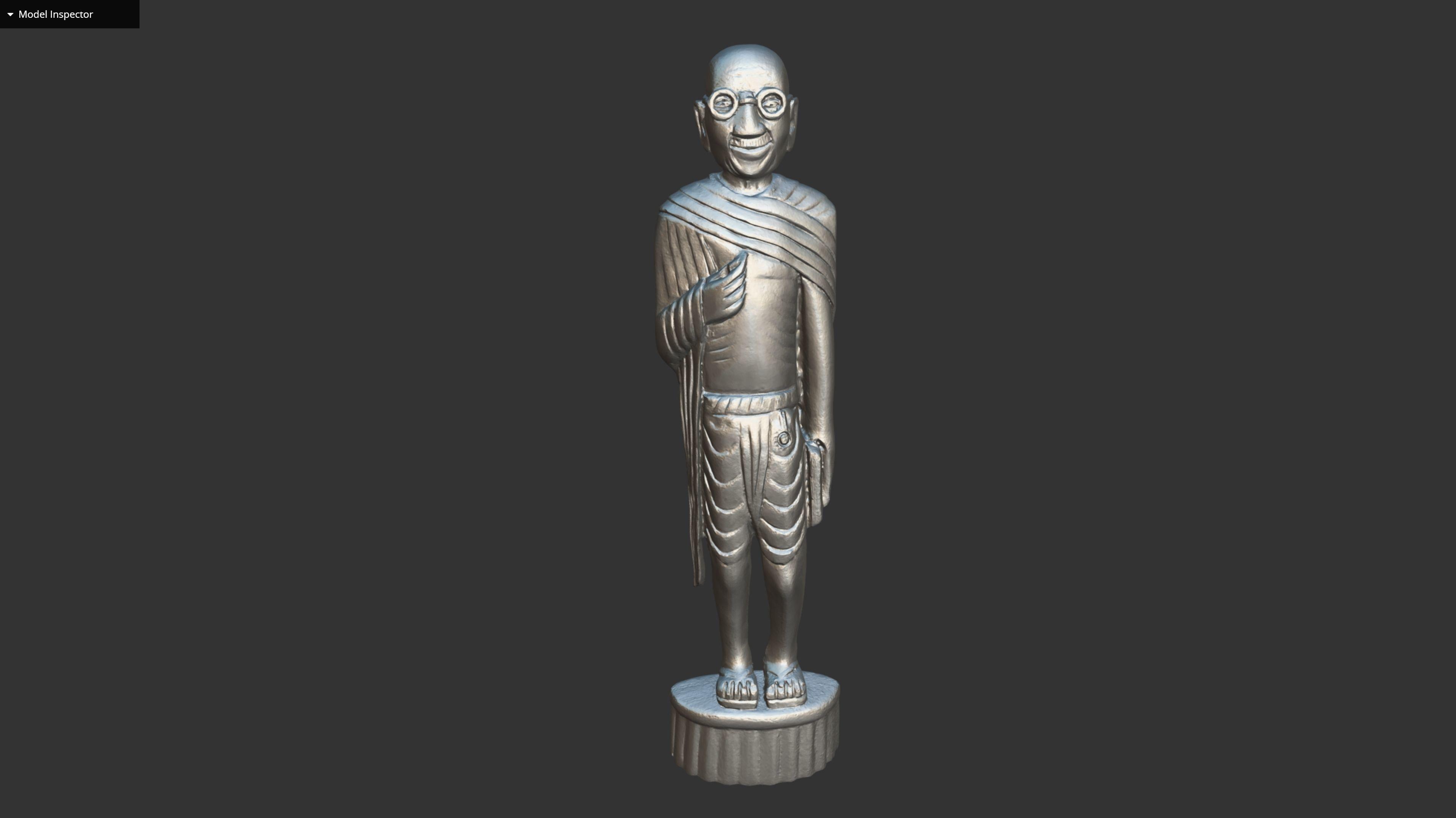 Wooden Gandhi v2 3DP