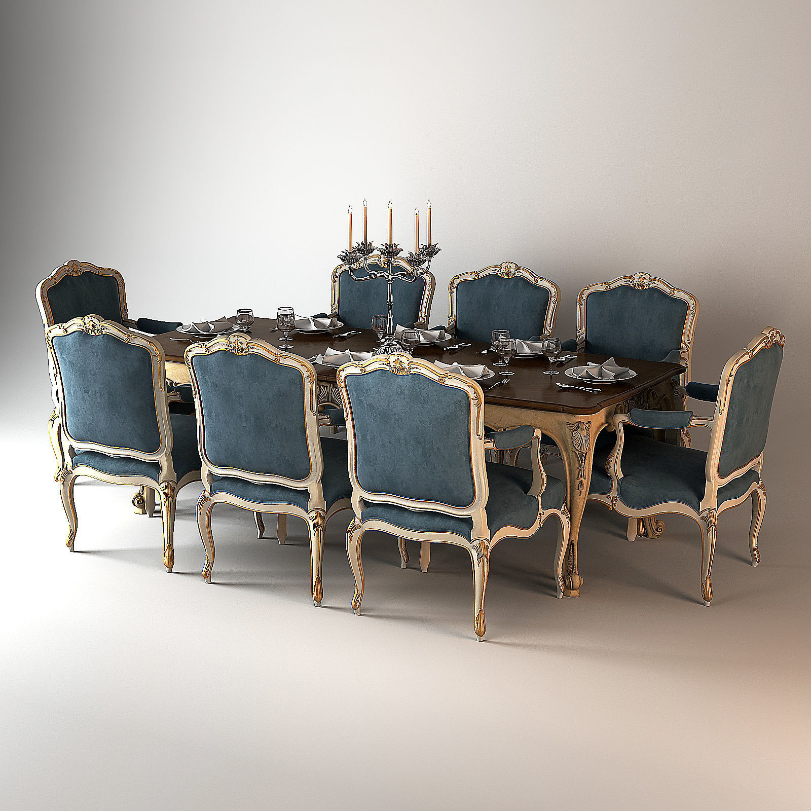 Salda Dining table Louis XIV