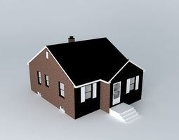 Tract House 3D Model Retro House. Free