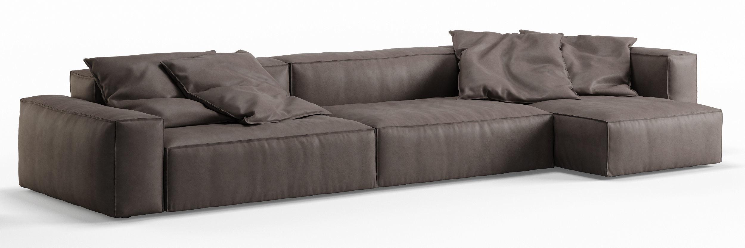 NeoWall Leather Corner Sofa by Living Divani   3D model