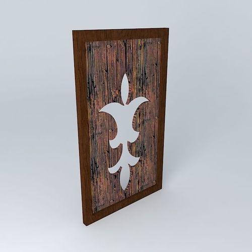 Wall Decoration 3d Model Free Download : Wall wooden decor free d model max obj ds fbx stl skp
