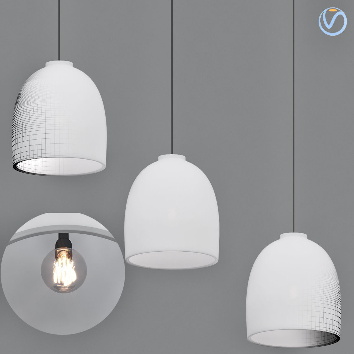 Contemporary Outdoor Pendant Lighting 3d Cgtrader