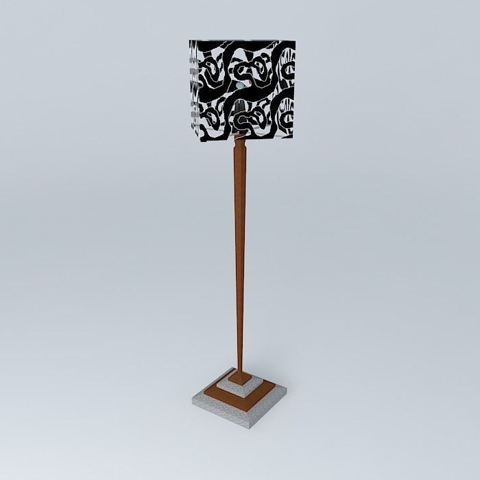 Floor lamp free 3d model max obj 3ds fbx stl skp for Floor lamp 3ds max free model