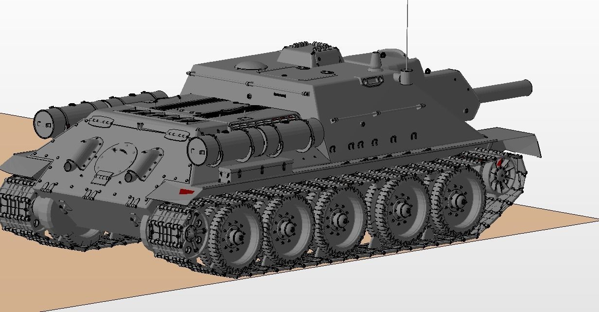 graphic relating to Printable Tanks named SU 122 USSR Tanks 3D Print Design and style