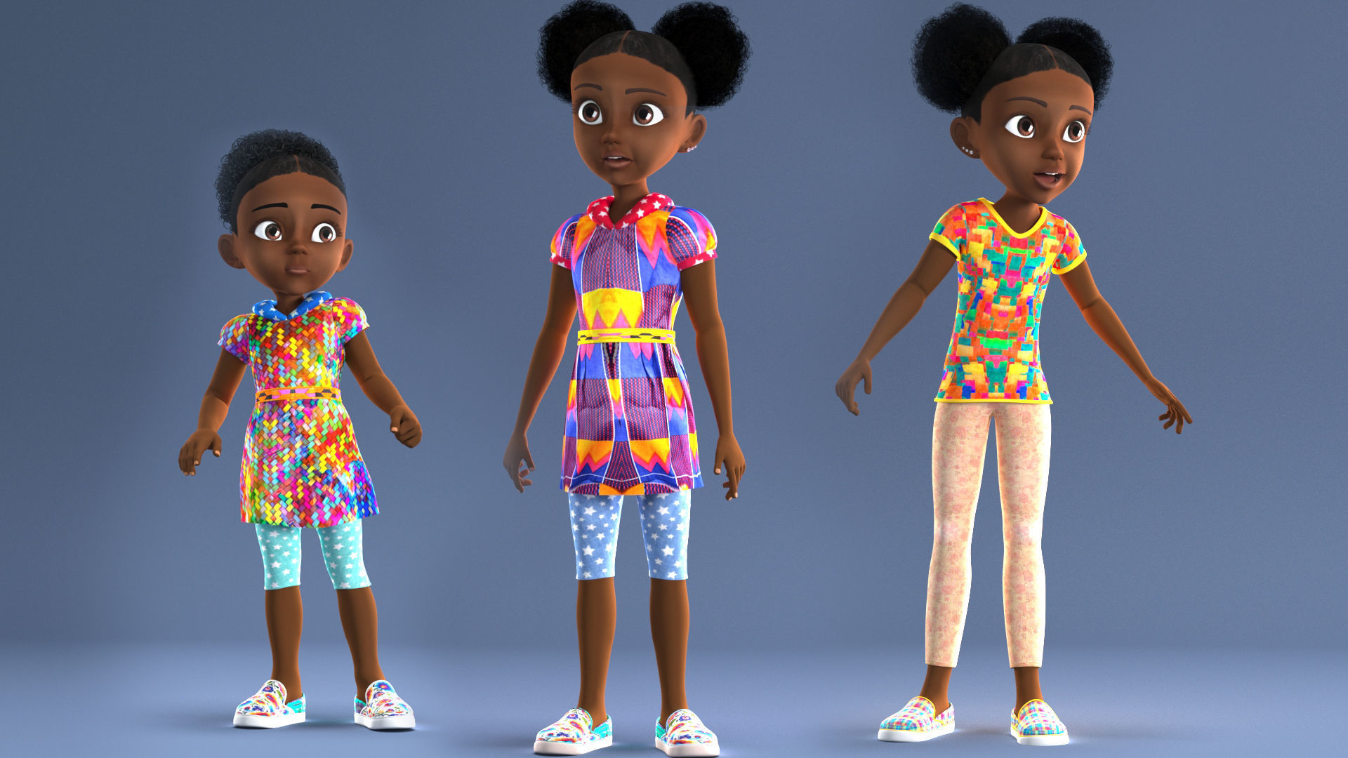 Girl with afro cartoon