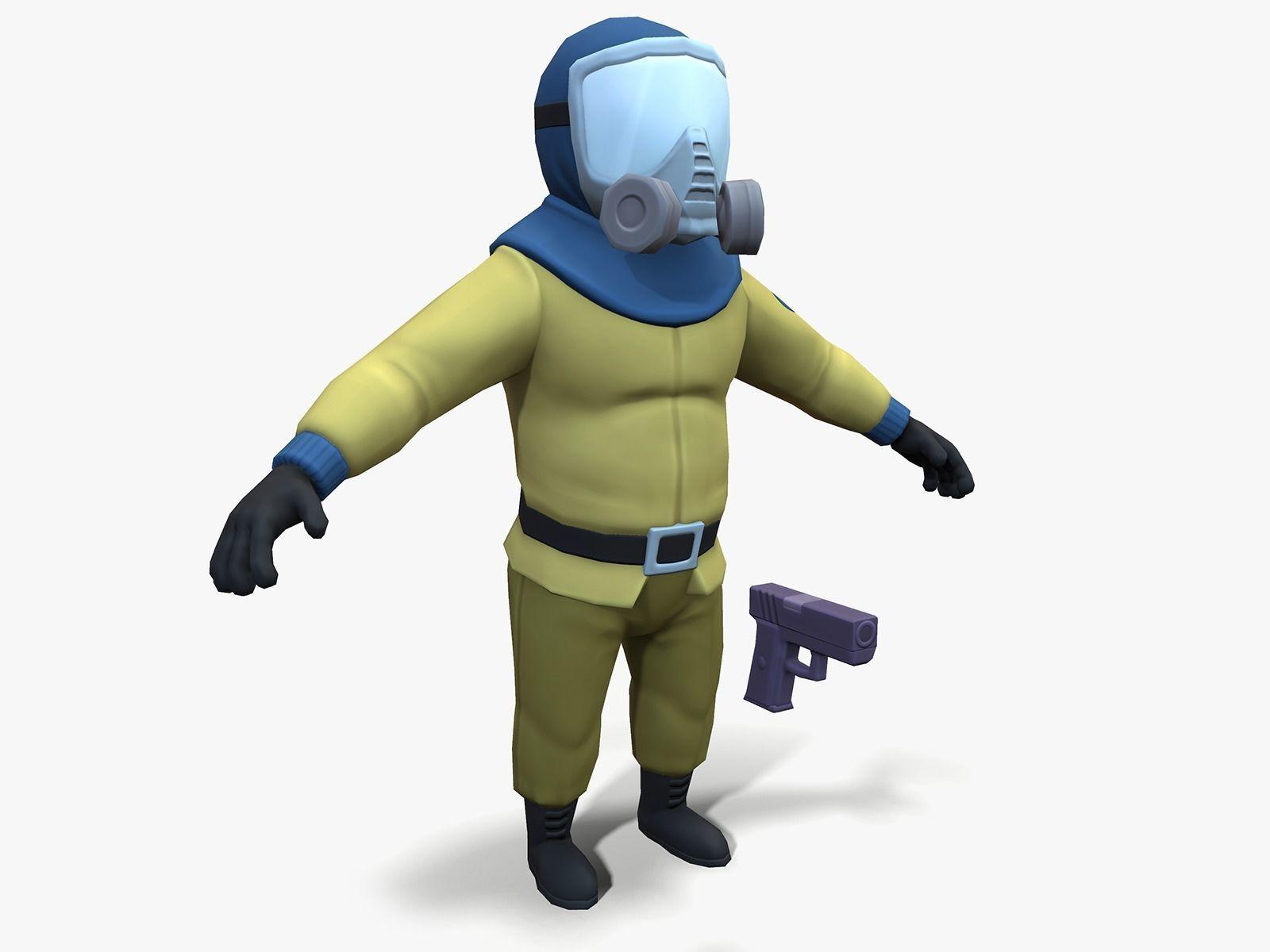 Gas Masked Gunner