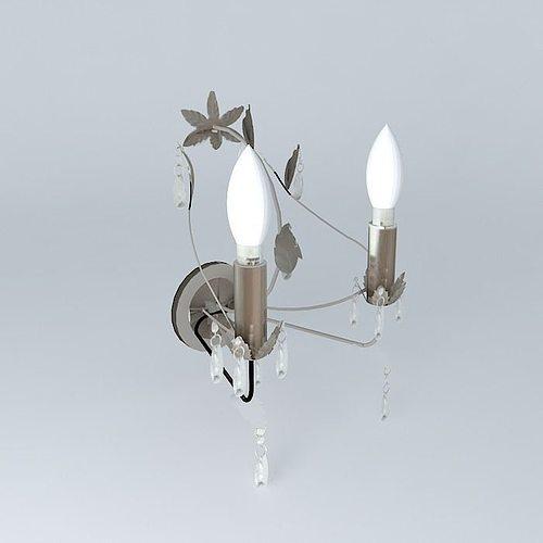 elegant wall lamps 3d model max obj mtl 3ds fbx stl skp 1