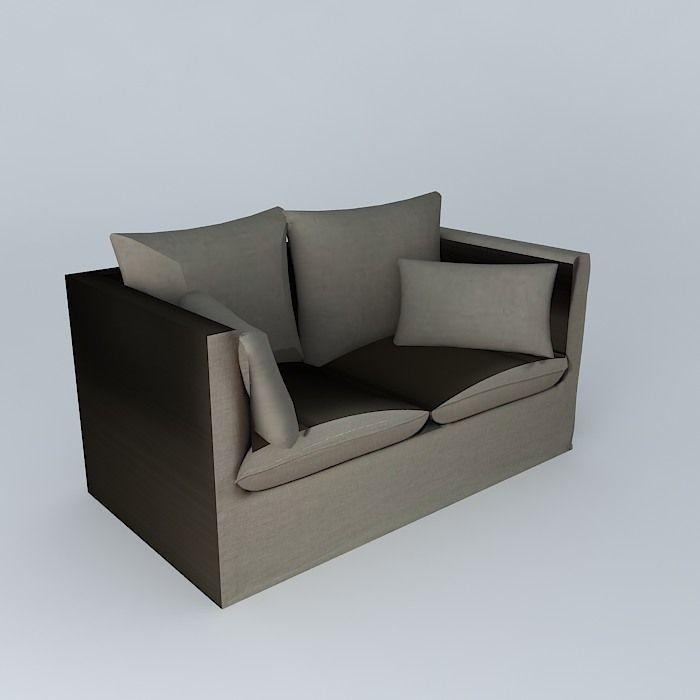Peachy Small Linen Sofa 3D Model Inzonedesignstudio Interior Chair Design Inzonedesignstudiocom