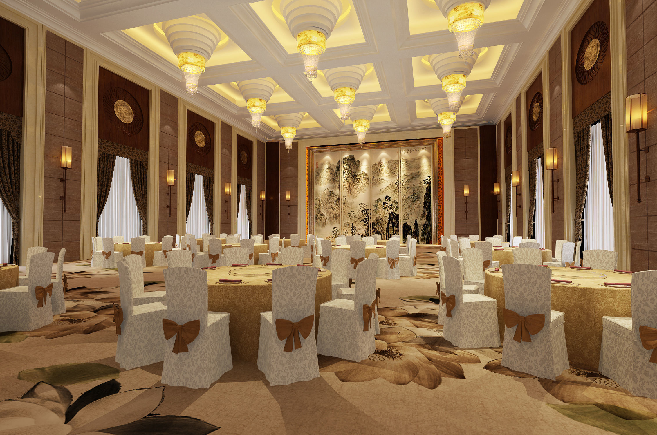 3d Hotel Conference Room Banquet Hall Cgtrader