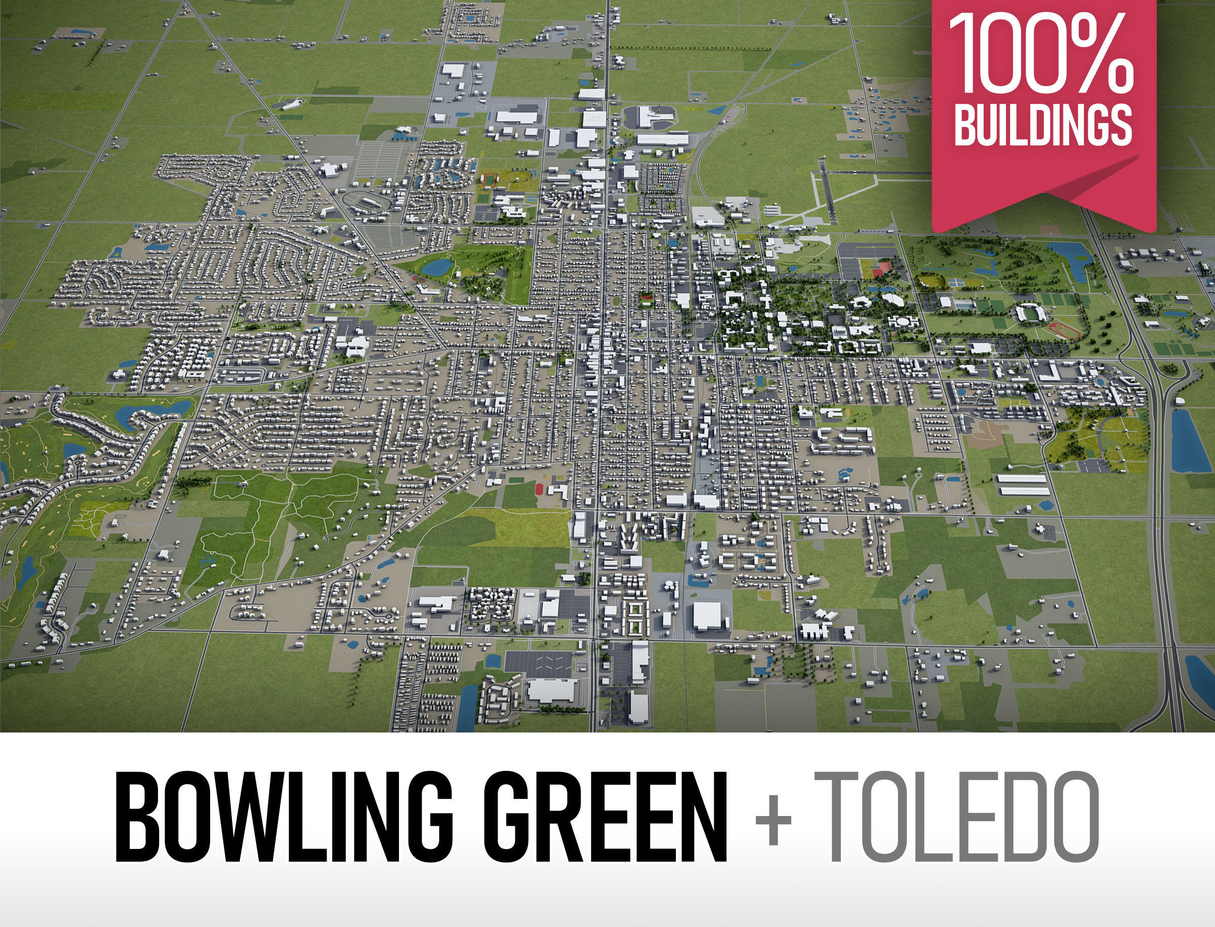 Bowling Green and Toledo - full cities
