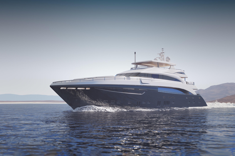 Large luxurious yacht