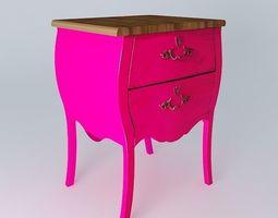 Bedside pink COUTURE 3D model