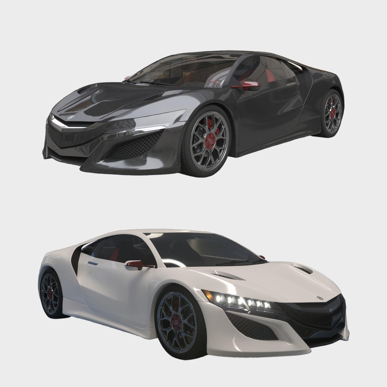 Car Acura NSX 3D