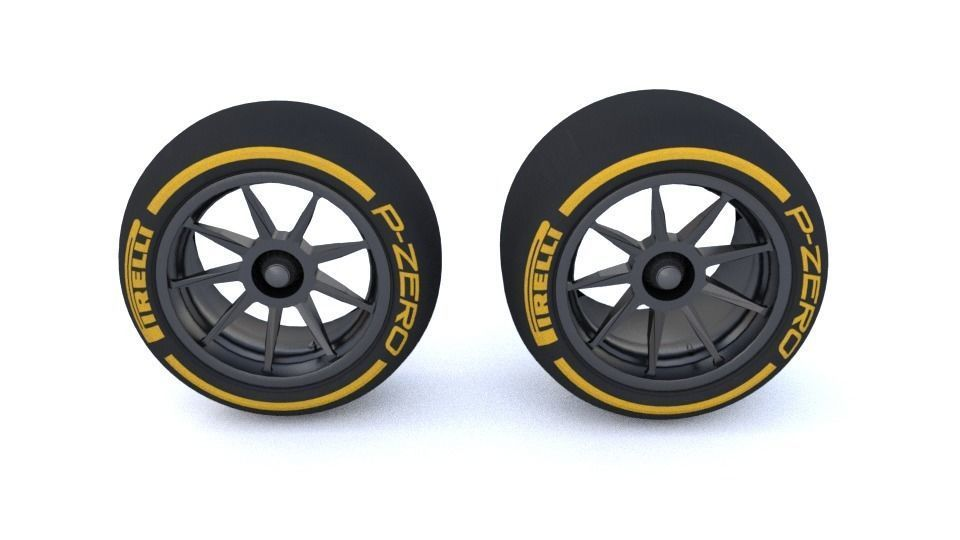 18 Inch Tires >> F1 2021 18 Inch Tire 3d Model Renault F1 Version 3d Model