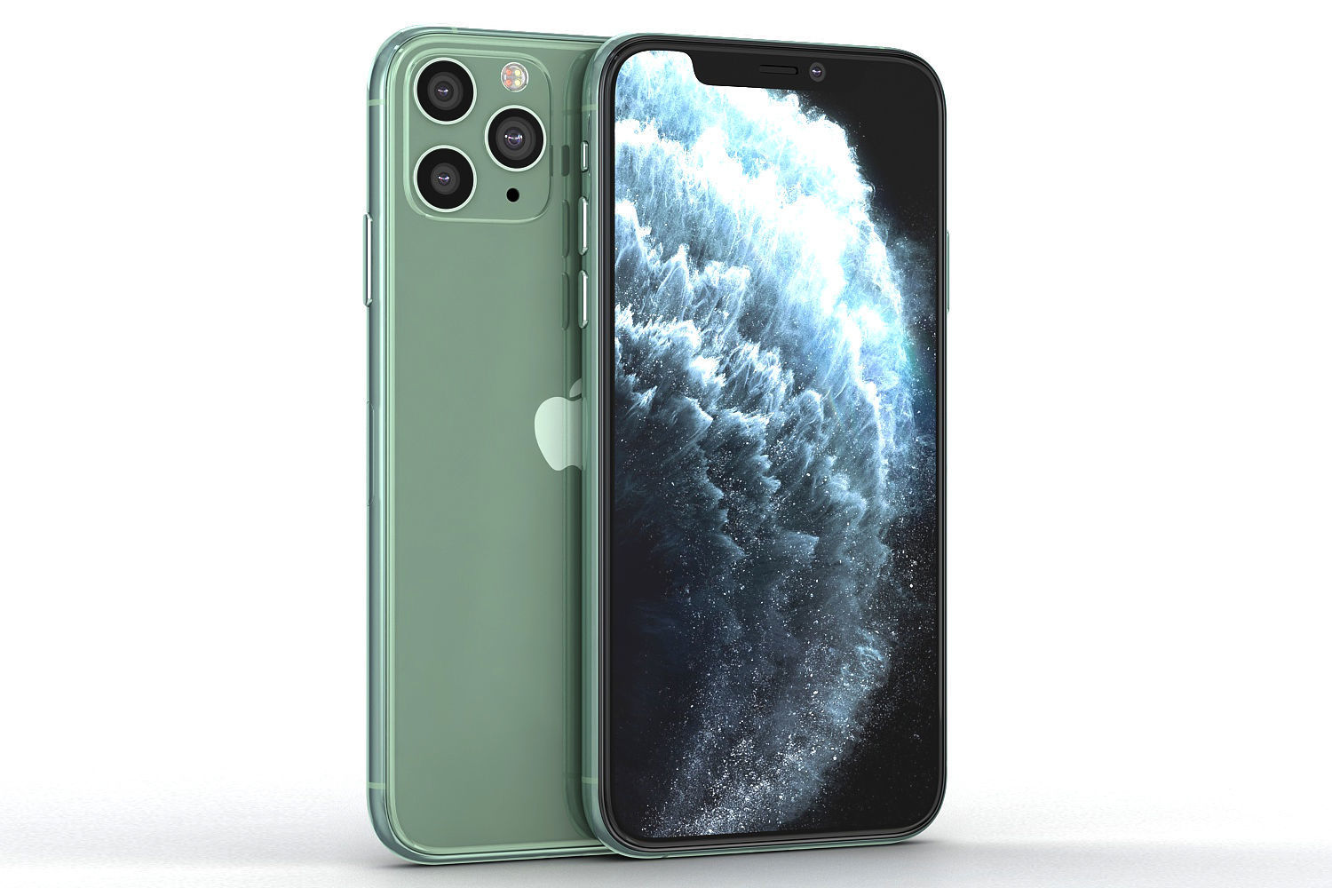 Green iphone 11 pro