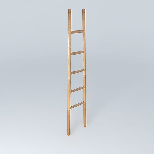 wood ladder 3d model max obj mtl 3ds fbx stl skp 1