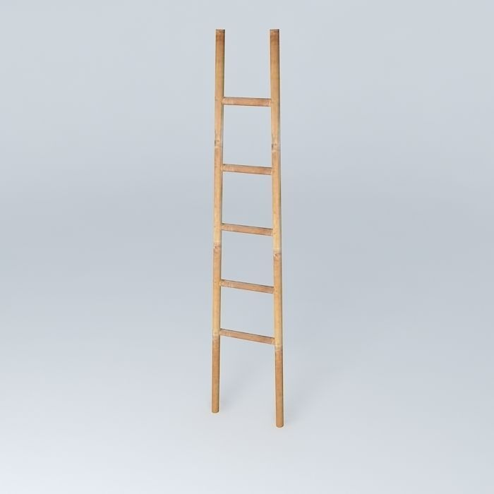 Wood Ladder 3D Model MAX OBJ 3DS FBX STL SKP