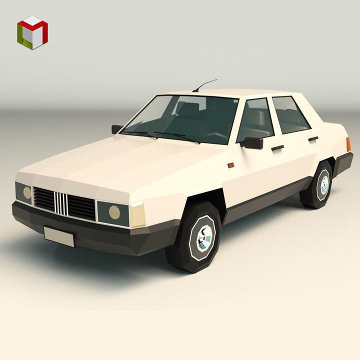Low Poly Sedan Car 07