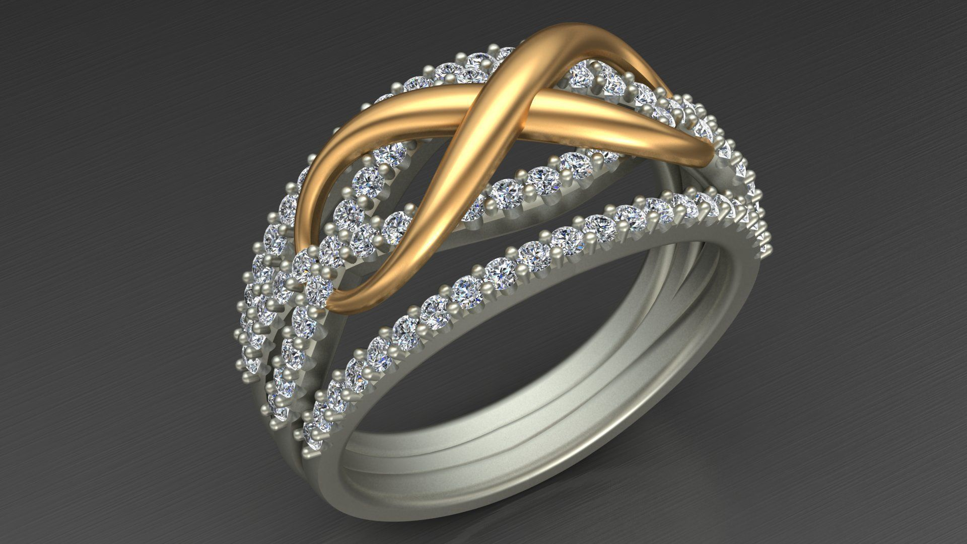Infinity Engagement Wedding Diamond Ring