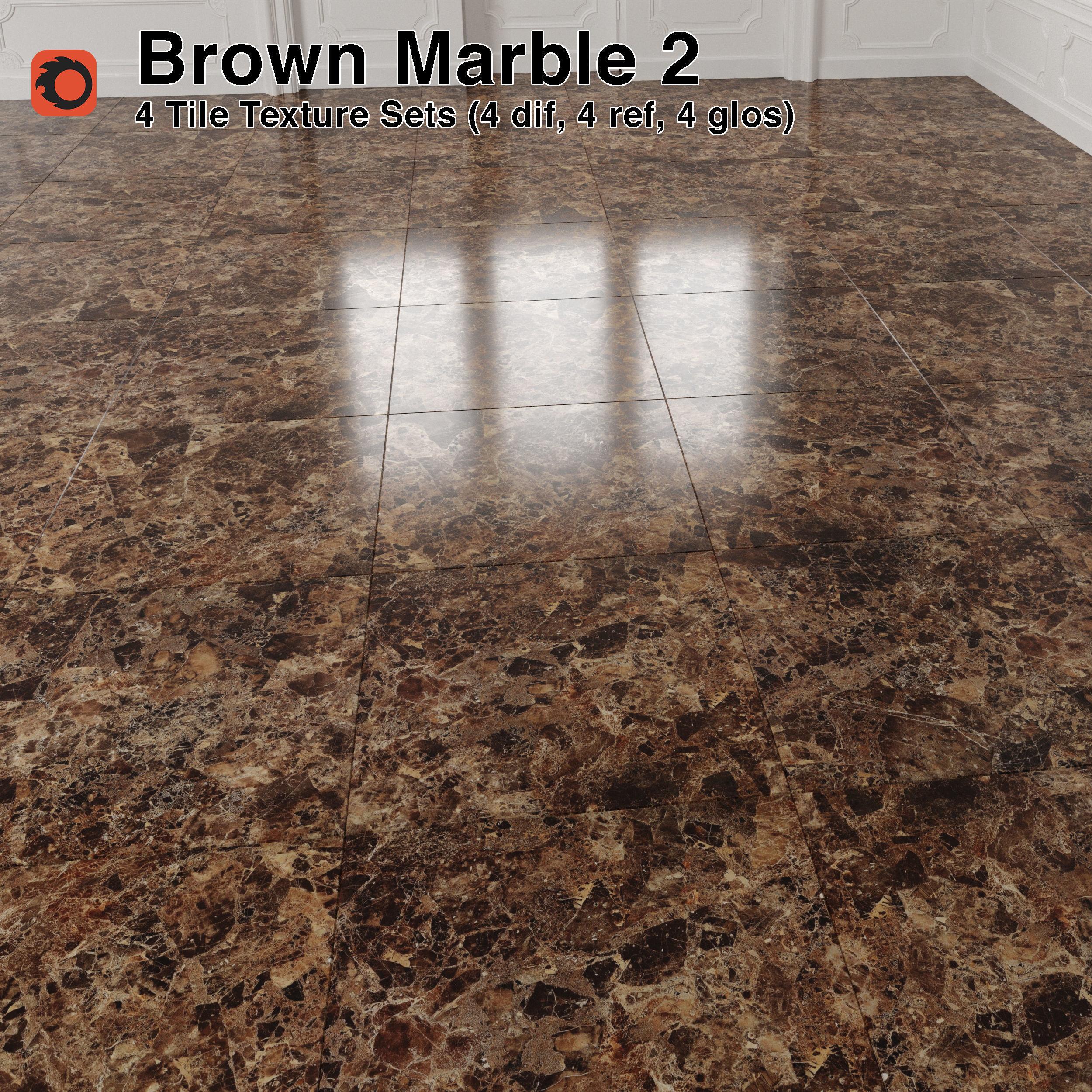 Brown Marble Tiles Pack 2 3d Model Cgtrader