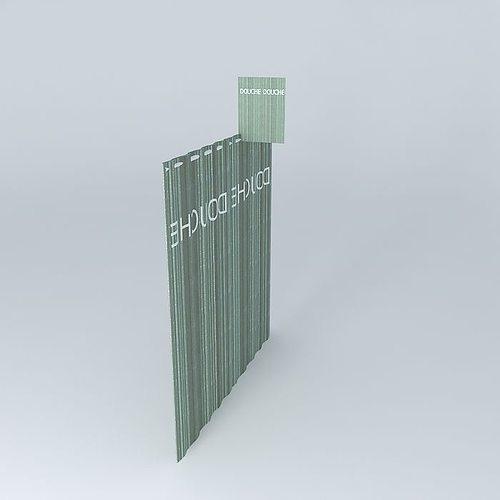 Translucent Shower Curtain 3D Model MAX OBJ 3DS FBX STL
